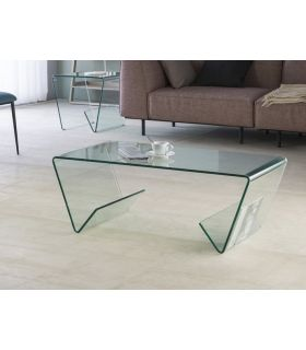 Comprar online Mesa de Centro de Cristal con Revisteros : Modelo GLASS III