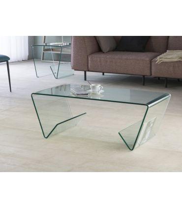Mesa de Centro de Cristal con Revisteros : Modelo GLASS III
