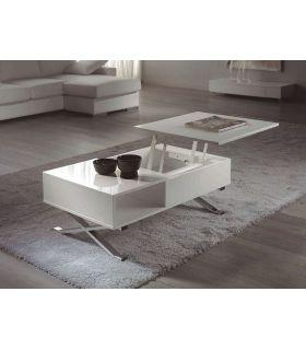 Comprar online Mesa de Centro Elevable : Modelo MANILA Blanco/Cromo