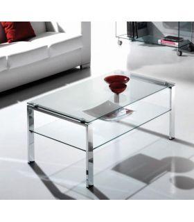 Comprar online Mesa de Centro de Acero y Cristal : Modelo ALBAR FIJA