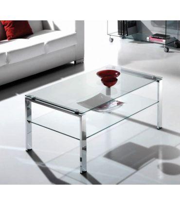 Mesa de Centro de Acero y Cristal : Modelo ALBAR FIJA