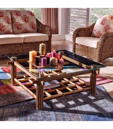 Mesas de Centro de Bambu : Modelo AKSARA