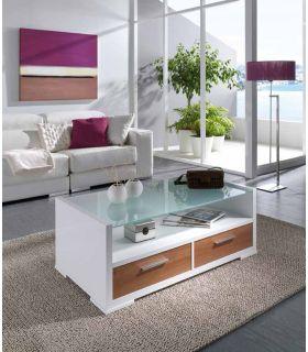 Comprar online Mesa de Centro en madera y Cristal : Modelo GUADALAJARA