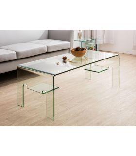 Comprar online Mesa baja de cristal templado : Modelo LEIRE