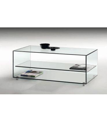 Mesa de Centro de Cristal Transparente : Modelo KATY