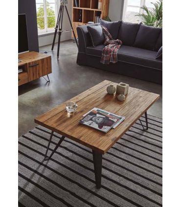 Mesa de centro en madera natural de ACACIA : Colección IRATI