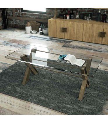 Mesa de Centro Artesanal estilo Industrial : Modelo KUNT Cristal