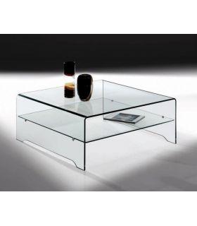 Comprar online Mesa de Centro cuadrada de cristal templado LYRA