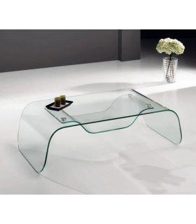 Comprar online Mesas bajas de Cristal con bandeja : Modelo LF34