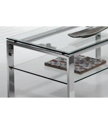 Mesita elevable de acero y cristal Templado : Modelo ALBAR