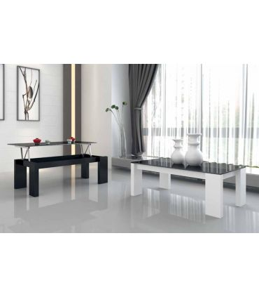 Mesas elevables de madera y cristal : Modelo SARA
