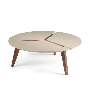 Mesa de centro con patas de nogal : Modelo RADIAL