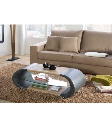 Mesa de Centro en Fibra de Vidrio y Madera : Modelo GISELE