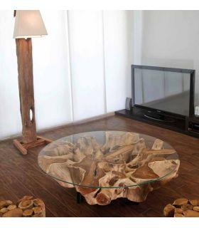 Comprar online Mesa de centro de madera natural : Modelo NAGA Redonda