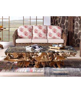 Comprar online Mesas de Raices para Salon : Coleccion NAGA Rectangular