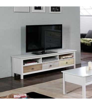 Mueble de Televisión en Madera de Pino : Colección FLORA