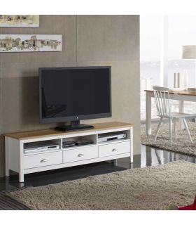 Comprar online Mueble de Televisión en Madera de Pino : Colección JADE Blanco