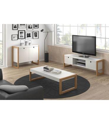 Mesa de Televisión de Estilo Nórdico : Colección SQUARE Blanco