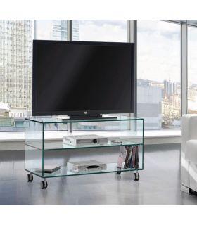 Mesa de Televisión de Cristal con ruedas : Modelo KATY 90