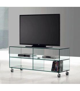 Comprar online Mesa de Televisión de Cristal Transparente : Modelo KATY 125