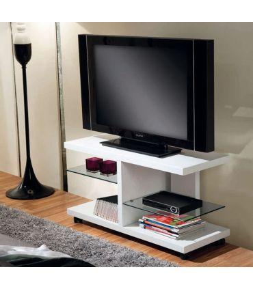 Mesa de Televisión con ruedas en madera blanca Modelo TORINO