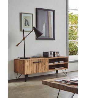 Mesa de televisión en madera de Acacia : Colección IRATI 130