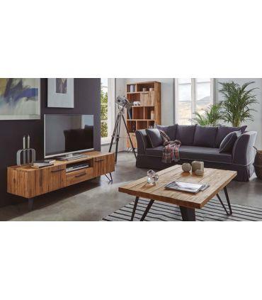 Mesa de TV en madera maciza de Acacia : Modelo IRATI 160