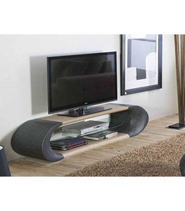 Mesa de Televisión en Fibra de Vidrio y Madera : Modelo GISELE
