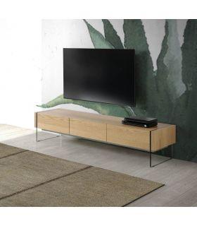 Comprar online Mesa moderna de Televisión en Madera y Cristal : Colección TELMA