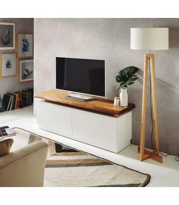 Mueble de Televisión en Madera : Modelo BOSTON Blanco