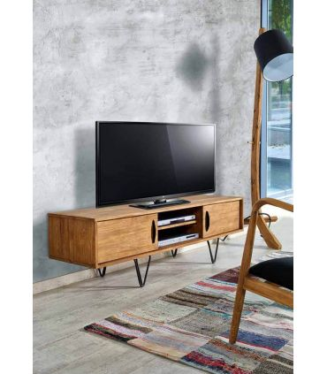 Mesas TV de Madera Reciclada : Modelo LOKKEN