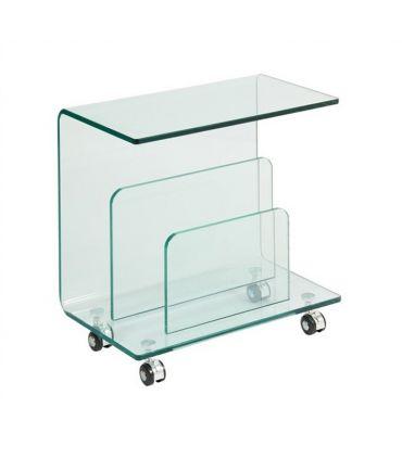 Revistero mesa Auxiliar de cristal : Modelo ALDRIN
