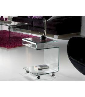 Comprar online Mesa Auxiliar de cristal transparente : Colección GLASS