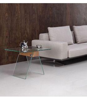 Comprar online Mesa Auxiliar de Cristal y Madera : Modelo ALHAMBRA