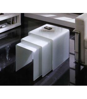 Comprar online Mesitas Nido de Cristal blanco : Modelo LISITEA