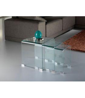 Comprar online Mesas Nido de cristal transparente : Colección GLASS