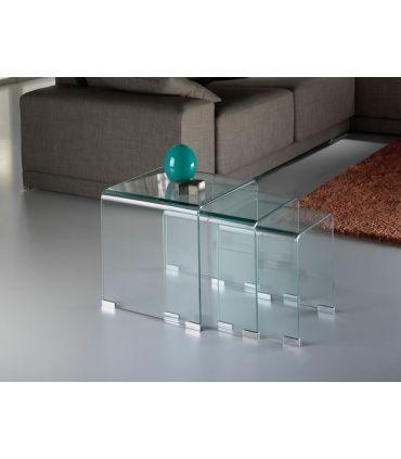 Mesas Nido de cristal transparente : Colección GLASS