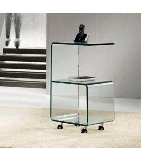Comprar online Mesita Auxiliar de Cristal con ruedas : Modelo KR06