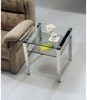 Comprar online Mesa de Rincón de Acero y Cristal : Modelo ALBAR