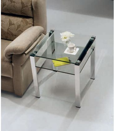 Mesa de Rincón de Acero y Cristal : Modelo ALBAR