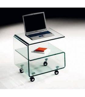 Comprar online Mesa Auxiliar con ruedas de Cristal templado : Modelo KR05