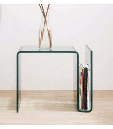Mesilla Auxiliar de cristal con Revistero : Modelo KR08