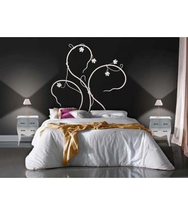 Cabecero de cama en forja artesanal Modelo HOJA ARCE