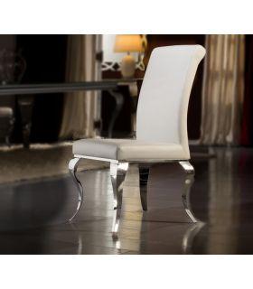 Comprar online Sillas de Acero y Ecopiel : Coleccion BARROQUE blanco