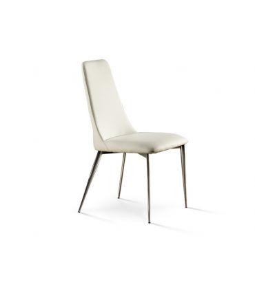 Silla Tapizada en Blanco para Salón : Modelo OXFORD