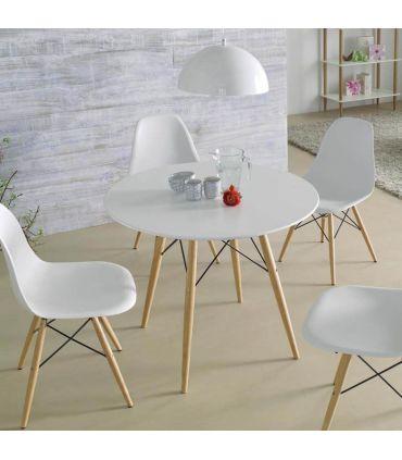 Sillas y Sillones de Diseño (Set de 2 )Modelo TEBE blanco