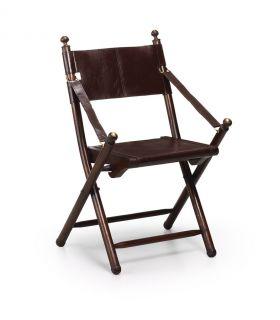 Comprar online Silla plegable de madera y Cuero : Modelo TARLTON