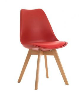 Comprar online Set de 4 Sillas de Diseño Moderno : Colección TORRE Rojo