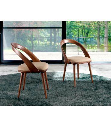 Silla de madera de fresno tapizada : Modelo ARCADIA