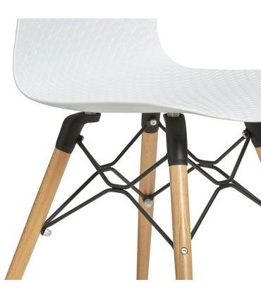 Set de 4 Sillas en PVC y Madera : Modelo GOLF Blanco